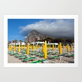 Beach of San Vito Lo Capo Art Print