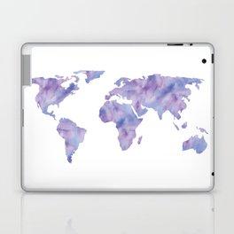 World Map Light Blue Purple Indigo Laptop & iPad Skin