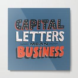 Business Metal Print