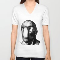 men V-neck T-shirts featuring men before men by massimo bianchi