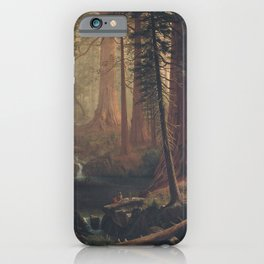 Giant Redwood Trees of California by Albert Bierstadt iPhone Case