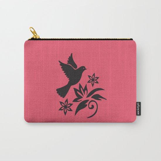 Bird Flower Carry-All Pouch
