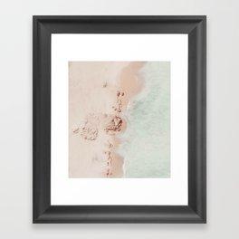 beach - pink champagne Framed Art Print