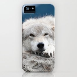 Sleepy Wolf iPhone Case