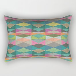 Colorblock Tribal Triangle Pattern Rectangular Pillow