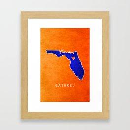 Gators Framed Art Print