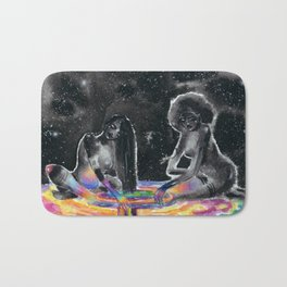 Dark Matter Beings Playing in a Rainbow Gravity Pool Bath Mat