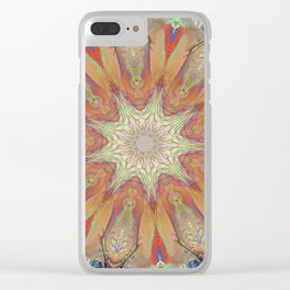 Targeted Passion Mandala Clear iPhone Case