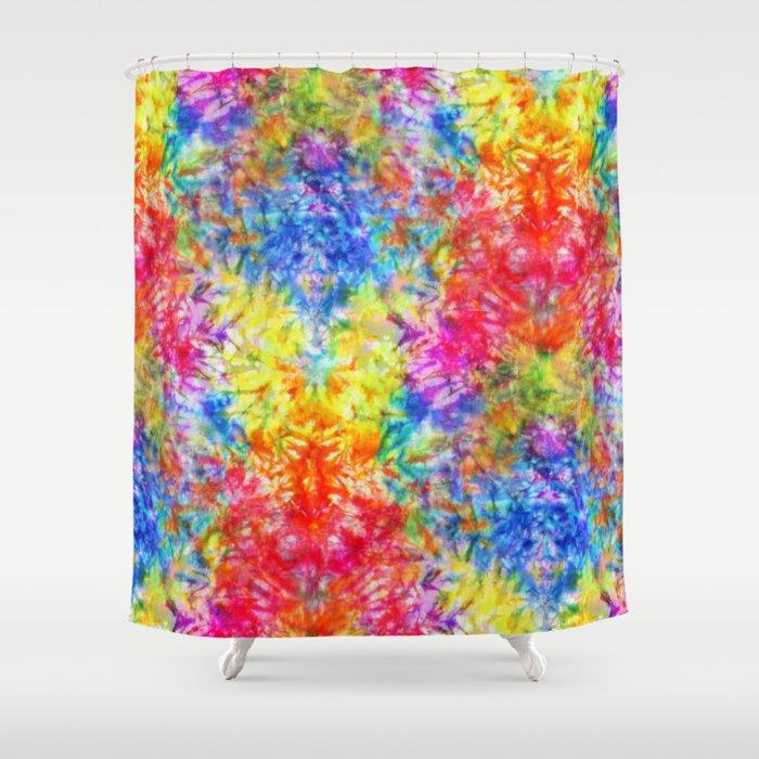 Rainbow Sunshine Tie Dye Shower Curtain