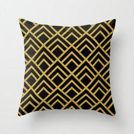 """Caviar at dawn, darling""...Chic Art Deco Pattern Throw Pillow"