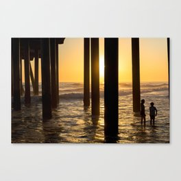 California Under Pier Sunset Kids Edition Canvas Print