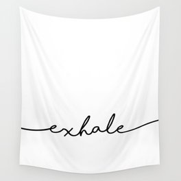 Exhale, 2 of 2 prints, Yoga Art Wall Tapestry