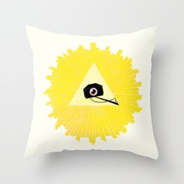 All Seeing Cams Throw Pillow
