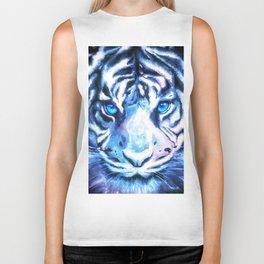 White Tiger | Snow Tiger | Tiger Face | Space Tiger Biker Tank