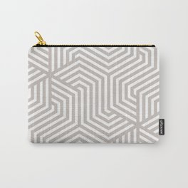 Pale silver - grey - Minimal Vector Seamless Pattern Carry-All Pouch