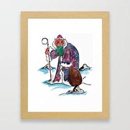 Sasha the Christmas Tiger Framed Art Print