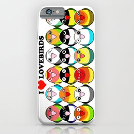Lovebird colour mutations iPhone Case
