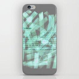 brush type green iPhone Skin