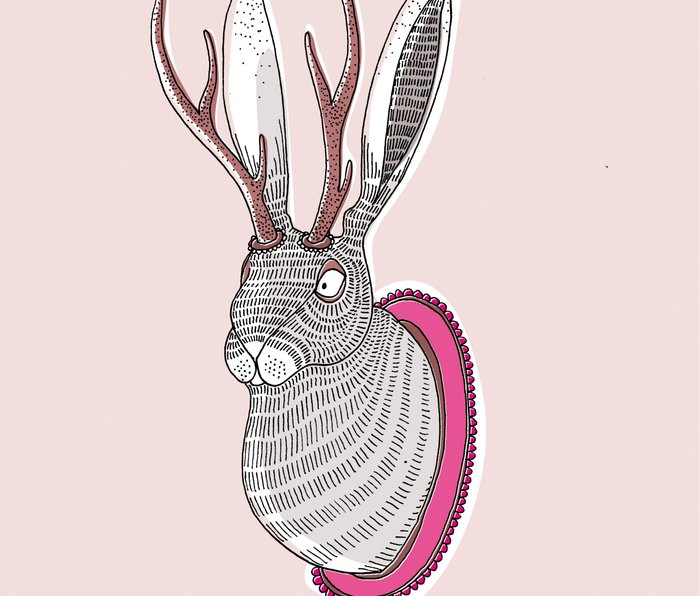 Deer Rabbit Metal Travel Mug