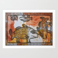on a carnival as - that time... Art Print