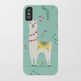 Festive Llama iPhone Case