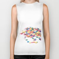 sprinkles Biker Tanks featuring Sprinkles by Dena Brender Photography