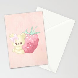 Raspberry Cutie Bear Stationery Cards