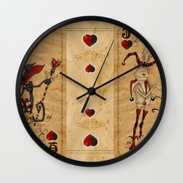 Oddity Playcards - Joker & Queen Wall Clock