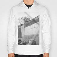 washington dc Hoodies featuring Construction site and fence Washington, DC by RMK Creative