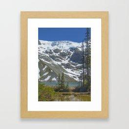 Joffre Glacier Framed Art Print