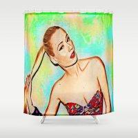 iggy azalea Shower Curtains featuring Iggy Azaela by Enna