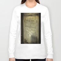 dentist Long Sleeve T-shirts featuring Victorian Dentist Sign by Adrian Evans