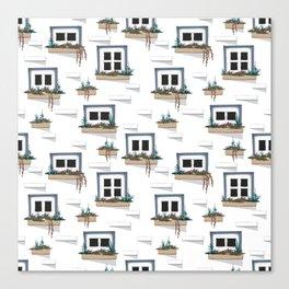 Cute Window Box Pattern Canvas Print
