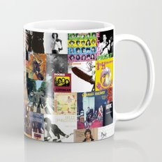 Classic Rock And Roll Albums Collage Mug