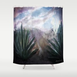 Desert Hills of Life and Death Shower Curtain
