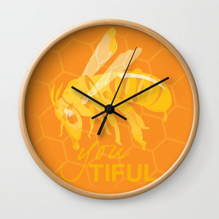 Bee You Tiful  Wall Clock