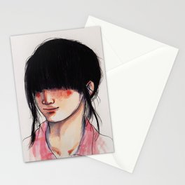Girl with the Fringe Stationery Cards