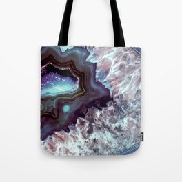 Ocean Blues Quartz Crystal Tote Bag
