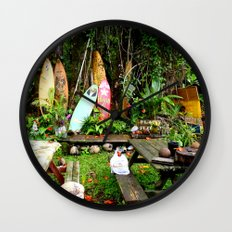 Typical Hawaii Pit Stop Wall Clock
