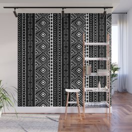 Black Mudcloth Wall Mural