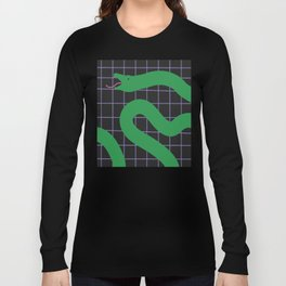 Snake on Grid Long Sleeve T-shirt