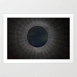 Looking up a Nuclear Cooling Tower Art Print