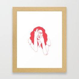 Pink Peek Framed Art Print