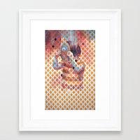 third eye Framed Art Prints featuring Third eye by Cristian Blanxer
