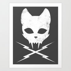 Stunt Kitty Art Print