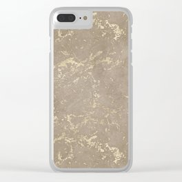 Coral Marble Gold Mine Clear iPhone Case