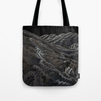 dark side of the moon Tote Bags featuring Dark Side of the Moon by Lyle Hatch