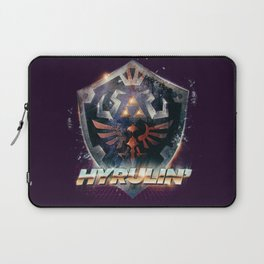 Yeah she sees my Hyrulin' - 80's Legend of Zelda Shield Laptop Sleeve