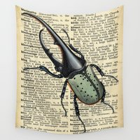 bug Wall Tapestries featuring Old Bug by afzucatti