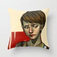 sam smith Throw Pillows featuring Sam by Kai Christie